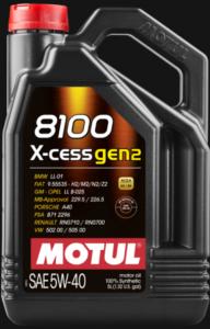 Масло моторное Motul 8100 Х-cess GEN2 5W-40 синт. A3/B4 API SN 5л
