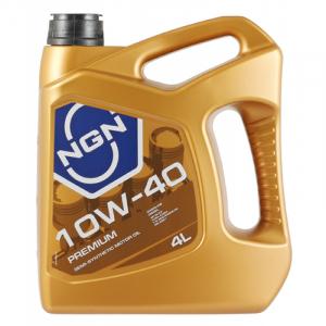 Масло моторное NGN PREMIUM 10W-40 API SL/CF п/синт. 4л