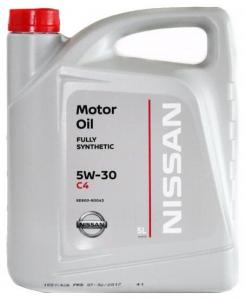 Масло моторное Nissan Genuine Motor Oil 5W-30 C4 синт. API SM/CF 5л
