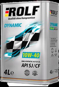 Масло моторное ROLF Dynamic 10W-40 п/синт. API SJ/CF 4л