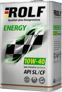 Масло моторное ROLF Energy 10W-40 п/синт. API SL/CF 4л