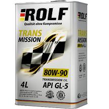 Масло трансмиссионное ROLF Transmission 80W-90 минер. API GL-5 4л