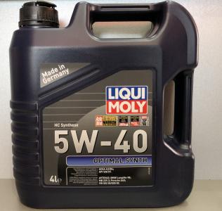 Масло моторное Liqui Moly Optimal Synth 5W-40 синт. API SN/CF 4л