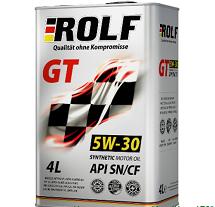 Масло моторное ROLF GT 5W-30 синт. API SN/CF 4л