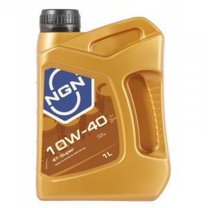 Масло моторное NGN 4T 10W-40 SUPER API SL п/синт. 1л