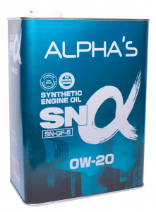 Масло моторное ALPHAS 0W-20 синт. API SN/GF-5 4л