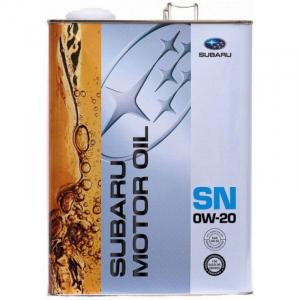 Масло моторное Subaru 0W-20 синт. API SN 4л