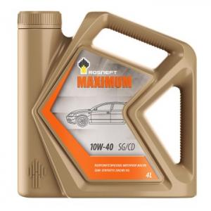 Масло моторное Rosneft Maximum 10W-40 п/синт. API SG/CD 4л