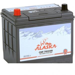 Аккумулятор Alaska CMF 65 75D23FR (ниж.крепление) silver+ п/п