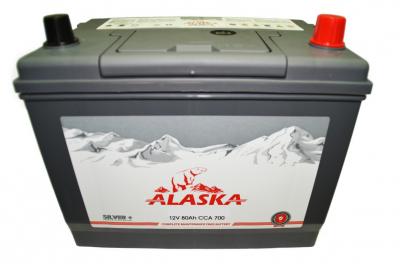Аккумулятор Alaska CMF 80 90D26FL (ниж.крепление) silver+ о/п