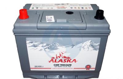 Аккумулятор Alaska CMF 80 90D26FR (ниж.крепление) silver+ п/п
