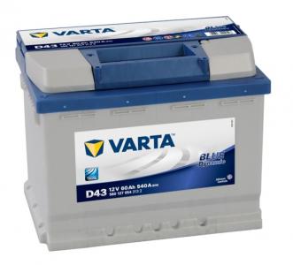 Аккумулятор VARTA Blue Dynamic 60ah о/п