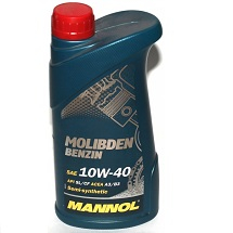 Масло моторное Mannol Molibden Benzin 10W-40 п/синт. API SL/CF 1л