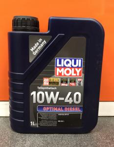 Масло моторное Liqui Moly Optimal Diesel 10W-40 п/синт. API CF 1л