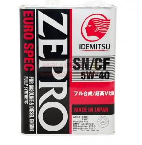 Масло моторное Idemitsu ZEPRO EURO SPEC 5W-40 синт. API SN/CF 4л