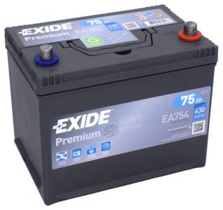 Аккумулятор EXIDE PREMIUM EA754 ASIA 75ah о/п