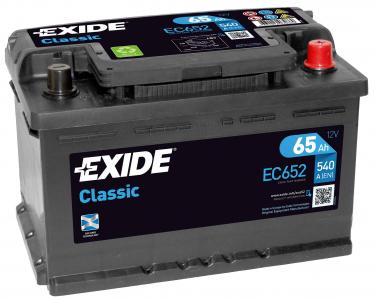 Аккумулятор EXIDE CLASSIC EC652 65ah (низкий) о/п