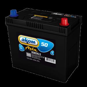 Аккумулятор Аком ASIA 50а/ч (65B24LS) (низкий) о/п