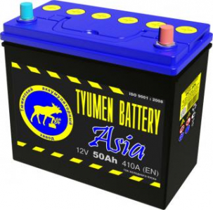 Аккумулятор Тюмень ASIA 50 о/п (тонкие клеммы)