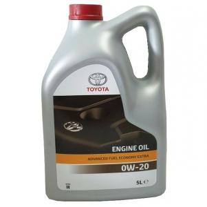 Масло моторное Toyota Motor Oil 0W-20 Advanced Fuel Economy Extra (пластик.тара) синт. API SN 5л