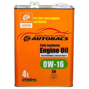 Масло моторное Autobacs Fully Synthetic 0W-16 синт. API SN 4л