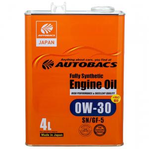 Масло моторное Autobacs Fully Synthetic 0W-30 синт. API SN/GF-5 4л