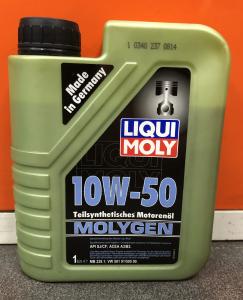 Масло моторное Liqui Moly Molygen 10W-50 п/синт. API SJ/CF 1л