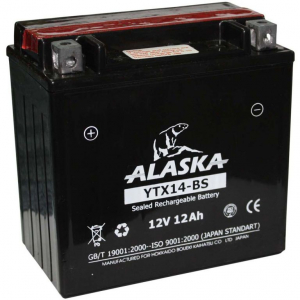 Аккумулятор Alaska 12 V 12A YTX14-BS