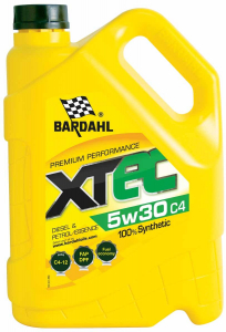 Масло моторное BARDAHL XTEC 5W-30 C4 синт. API SN/CF 5л
